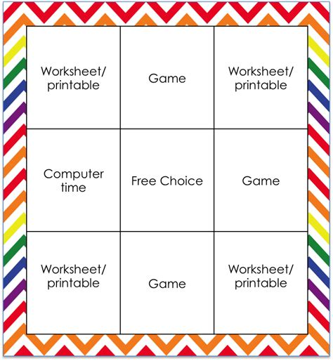 choice board template mixing it up with end of the year choice boards teaching with simplicity