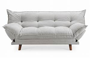 canape convertible design scandinave gris piece a vivre With canapé design convertible