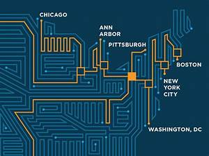 Circuit Board Map Infographic