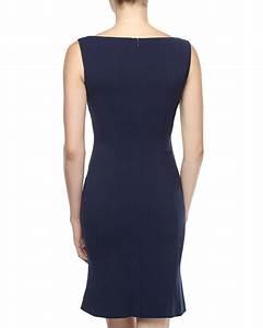 T TAHARI By Elie Tahari Navy Sapphire LISBETH Dress US 8 UK 12 IT 44 NWT