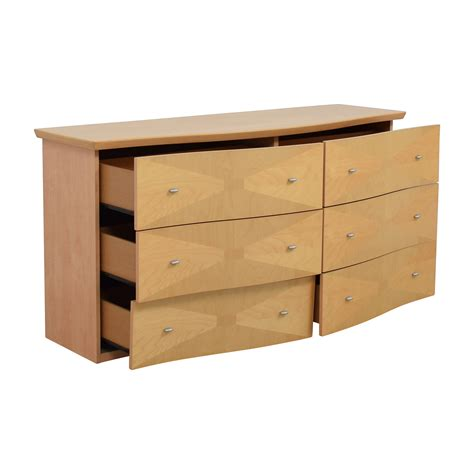 light wood dresser 77 retro light wood six drawer dresser storage
