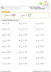 fraction of a number worksheet primaryleap co uk fractions of quantities worksheet