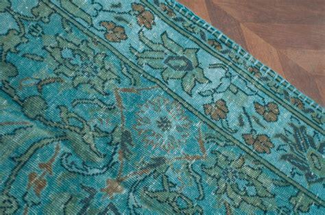 tapis ancien tapis turc tapis bleu bleu turquoise turquie fait main laine coton tisse main