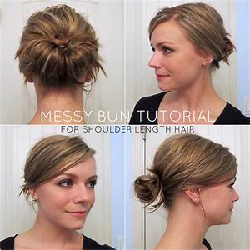 Diy Bun Hairstyles For Short Hair HairStyles