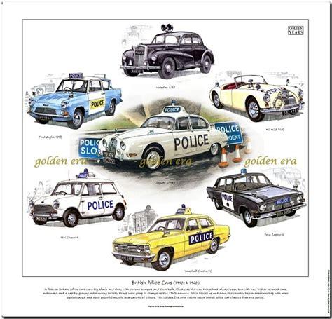 british police cars   fine art print