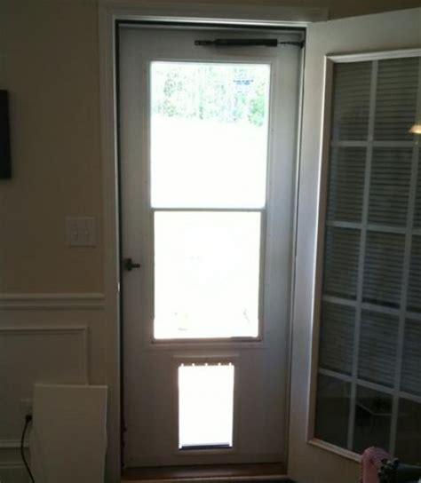 door with doggie door built in screen door with pet door styles and design to improve