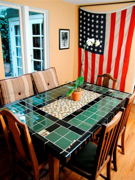 tiled kitchen tables create a mosaic tile tabletop hgtv 2794
