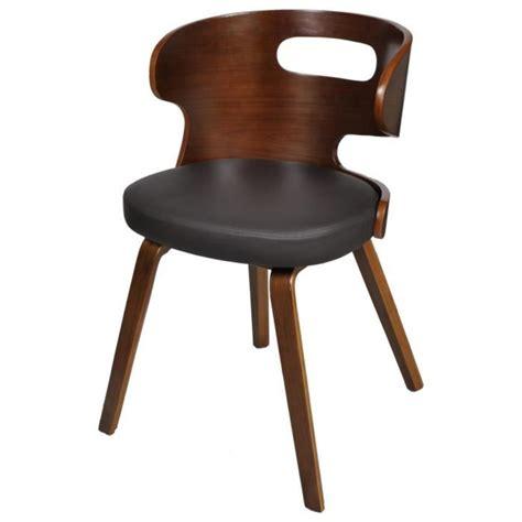 chaise salle a manger pas cher lot de 6 lot de 4 chaises de salle à manger en cuir mélangé brun