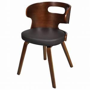 lot de 4 chaises de salle a manger en cuir melange brun With salle À manger contemporaineavec chaise en couleur pas cher