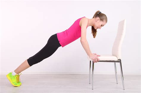 workout to do with a chair popsugar fitness