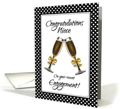 congratulations niece    engagement champagne toast card