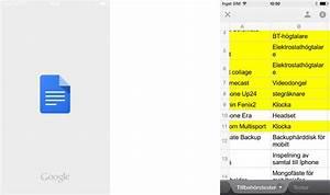 Apptest  Google Kalkylark