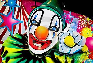 Face A Clown 1 Stock Image Image