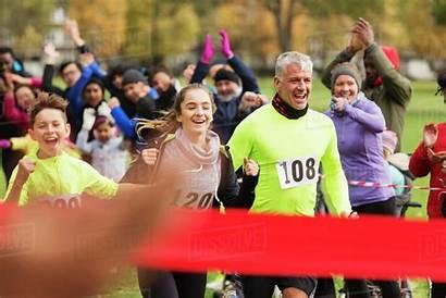 Run Running Finish Charity Line Nearing Enthusiastic