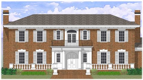 brick colonial house plans colonial revival house plans brick colonial revival house