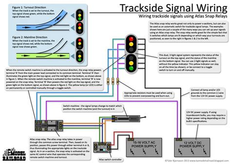wiring diagram atlas lamp signals snap relay wire led train using scale railroad turnout trains trackside antique ho dcc lamps