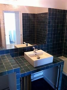 beautiful salle de bain zellige noir photos awesome With vasque sdb design