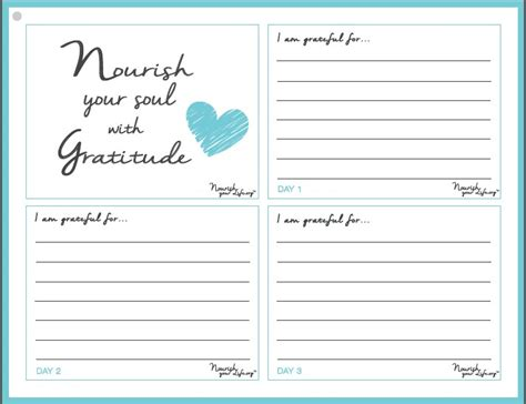 three good things template printables