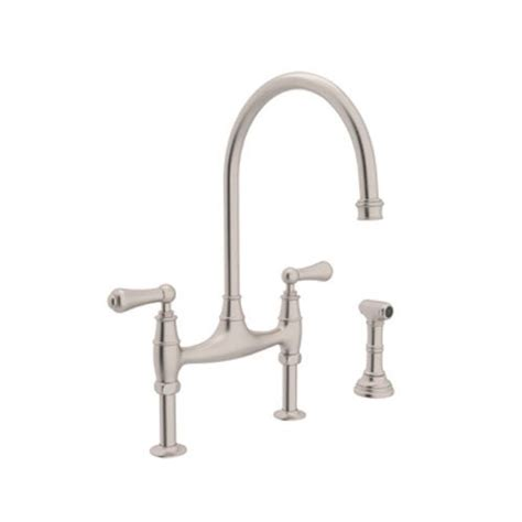 Rohl Bridge Faucet With Sidespray by Rohl Kitchen Chrome Faucet Chrome Kitchen Rohl Faucet