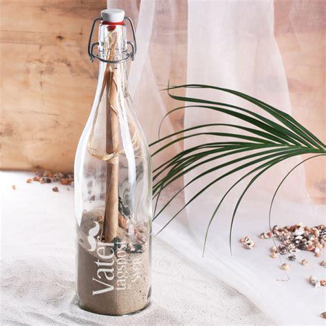 flaschenpost zum vatertag mit gravur