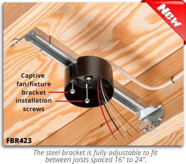 how to install a ceiling fan box without attic access arlington fan fixture box with adjustable steel bracket