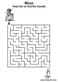 maze worksheetsactivity sheets  kindergartenteachers