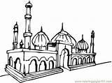 Mosque Coloring Masjid Drawing Pages Mewarnai Buildings Mosques Coloringpages101 Getdrawings Coloriage Cours Enfants Pour Album sketch template
