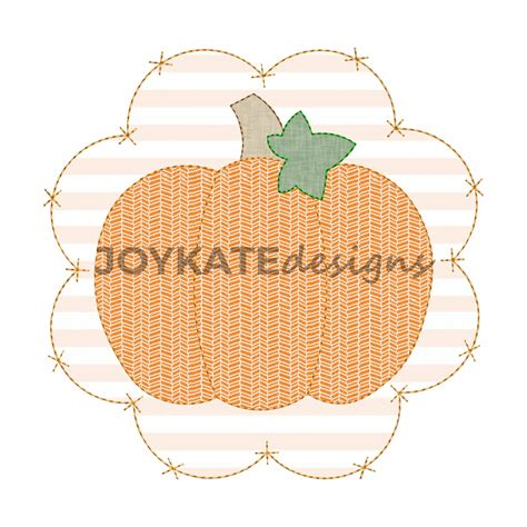 Patch Applique by Pumpkin With Criss Cross Scallop Patch Applique Embroidery