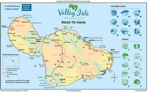 road  hana highway map guide  hana maui