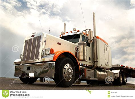 long haul truck royalty  stock photo image
