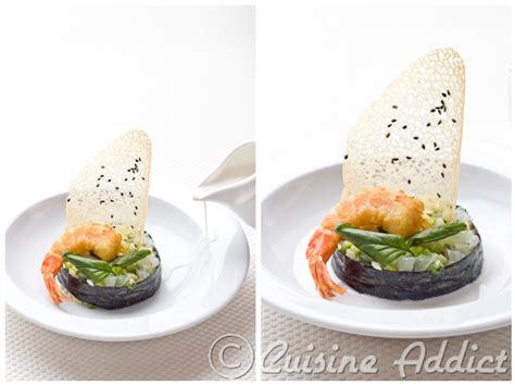 recettes de cuisine corse chaud froid de gambas bouillon aux saveurs thaï