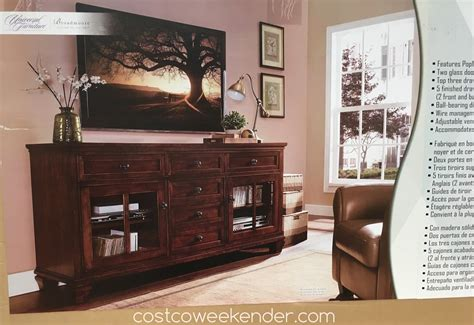 "Universal Furniture Broadmoore 70"" TV Console Costco"