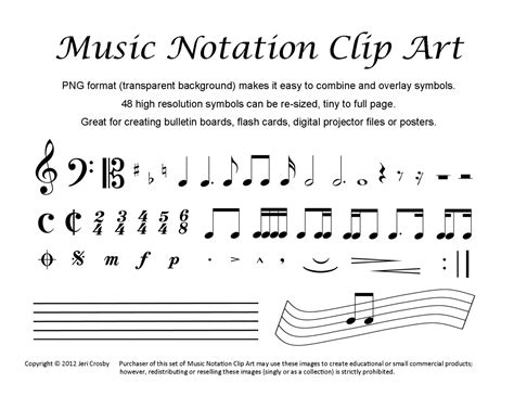 Rests are intervals of silence in pieces of music, marked by symbols indicating the length of the pause. Music Notation Clip Art 48 Common Symbols