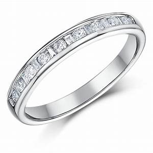 3mm 033ct white gold 18ct princess cut diamond wedding With 18ct gold wedding rings with diamonds
