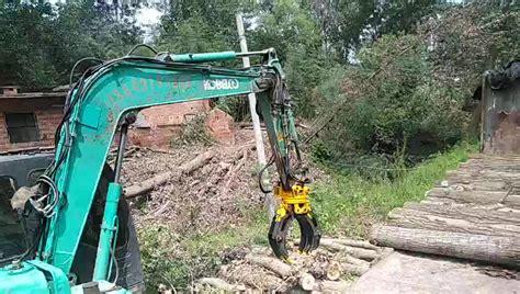hydraulic log grapple mini excavator rotating wood grapple