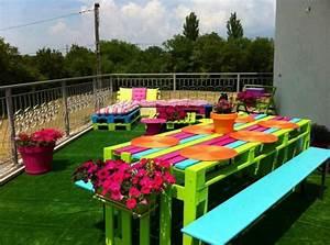 Coole Gartendeko Selber Machen : id es originales de meubles en palettes ~ Orissabook.com Haus und Dekorationen
