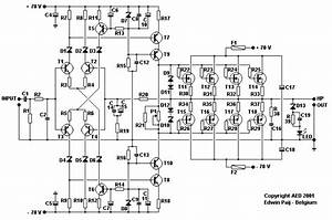 Mosfet Power Amp  Lm1458  Circuit Diagram World