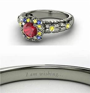for the ladies fancy disney princess themed rings With disney themed wedding rings