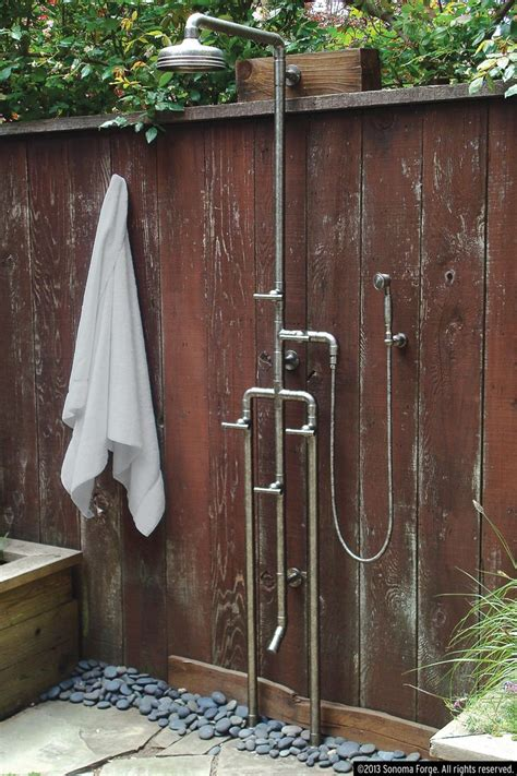 Outdoor Exposed Shower Faucet by Waterbridge Exposed Showers Complement The Faucets In The