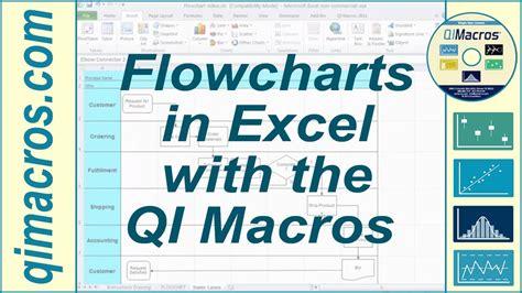 draw flowcharts  excel   qi macros youtube