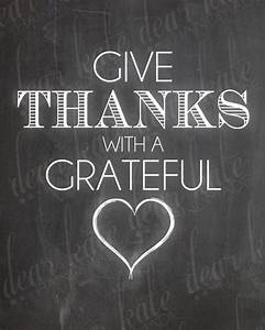 Give Thanks With A Grateful Heart- Thanksgiving Chalkboard ...