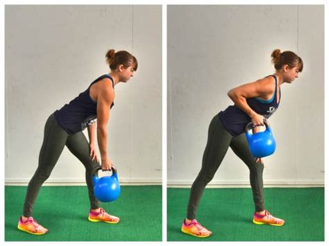 kettlebell exercises arm pulls row exercise fat strength single rows bent lunge redefiningstrength weight redefining burn abs biceps need