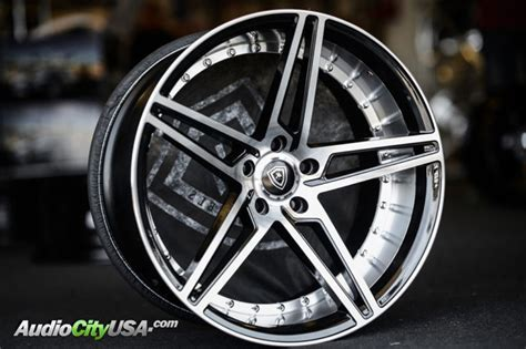 staggered marquee wheels  black  polish