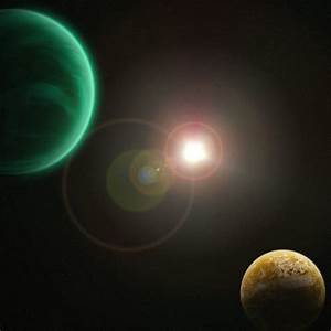 Green Gas Giant and Moon by Coelophysis83 on deviantART