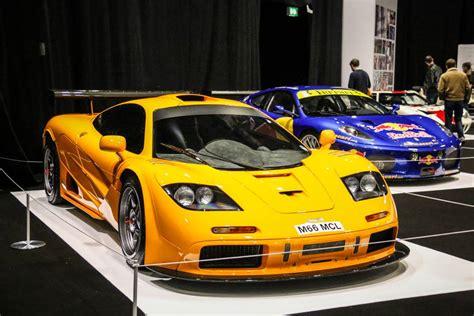 old mclaren mclaren f1 gtr duo at london classic car show 2015 gtspirit