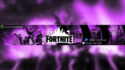 fortnite youtube channel banner template