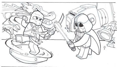 Lego Ninjago Star Wars Coloring Pages Coloring Pages For