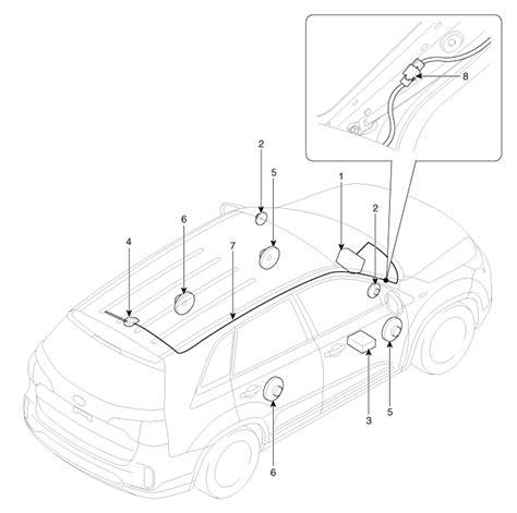 kia sorento component location audio body electrical