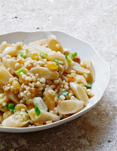 orge recettes cuisine recette d 39 orge perlé salsifis raisins par alain ducasse
