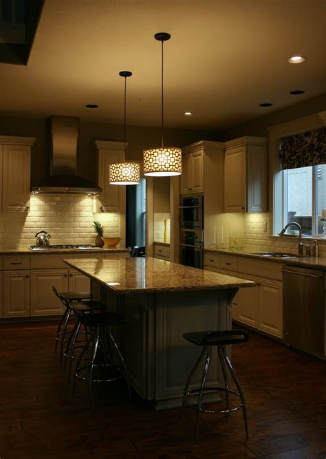 Exquisite Drum Lamp As Kitchen Island Lighting Brightening